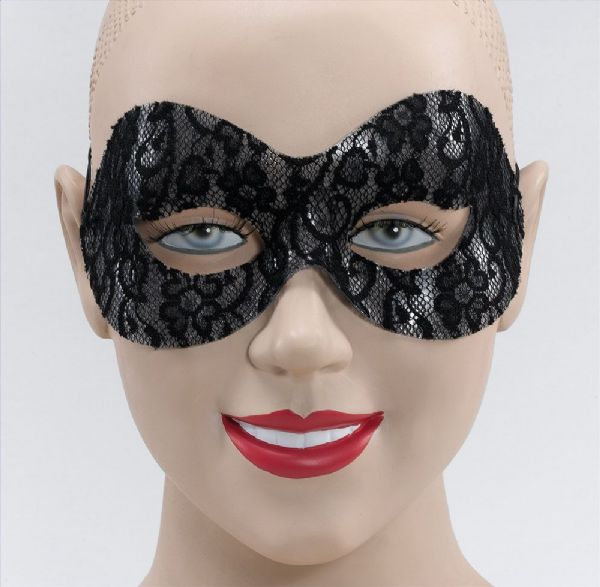 Black Lace Domino Eyemask Masquerade Ball Eye-Mask Eye Mask Fancy Dress